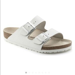 Pre-owned White Leather Birkenstock Sandals 37